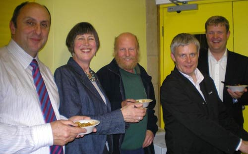 Bill Kimberling, Rose Wheeler, Mick Chatham, Stuart Green and Chris Bingham