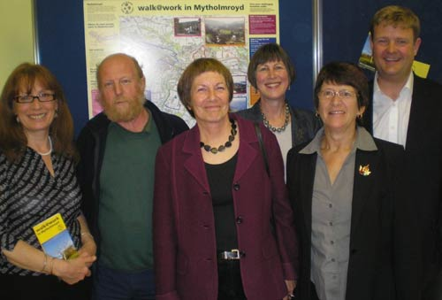 Pam Warhurst, Mick Chatham, Jill Liddington, Rose Wheeler, Jean Williams and Chris Bingham