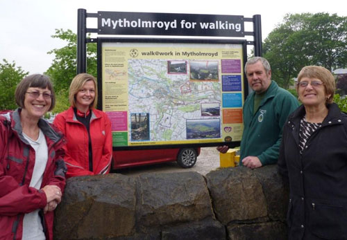 New Walk@Work information board at Mytholmroyd